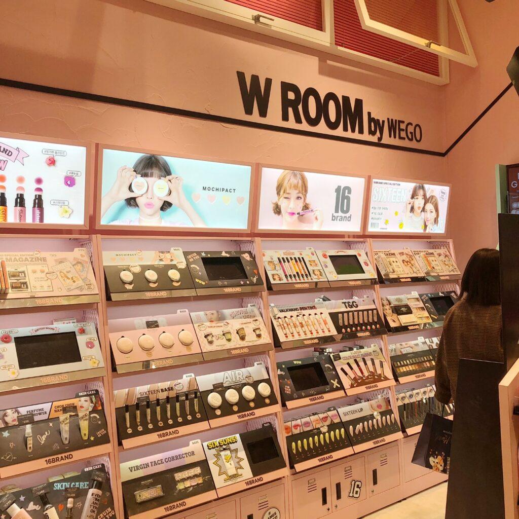 WEGO(ウィゴー) 原宿竹下通り店のコスメコーナー