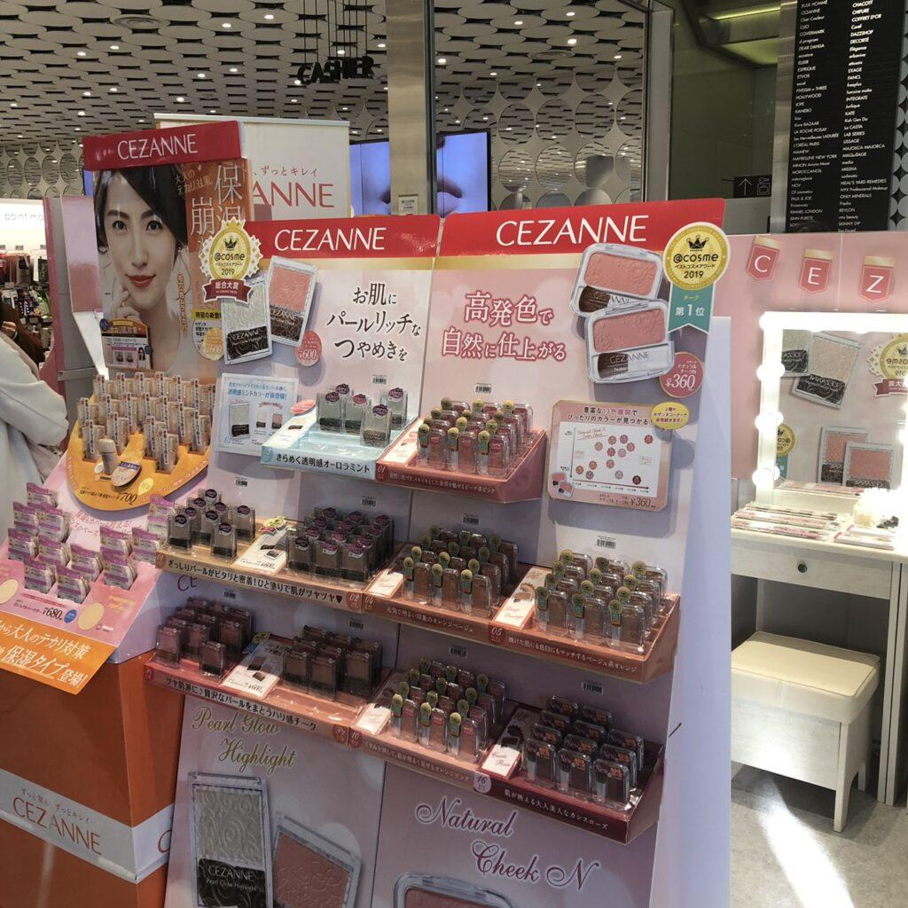 @cosme TOKYO内セザンヌポップアップスペース