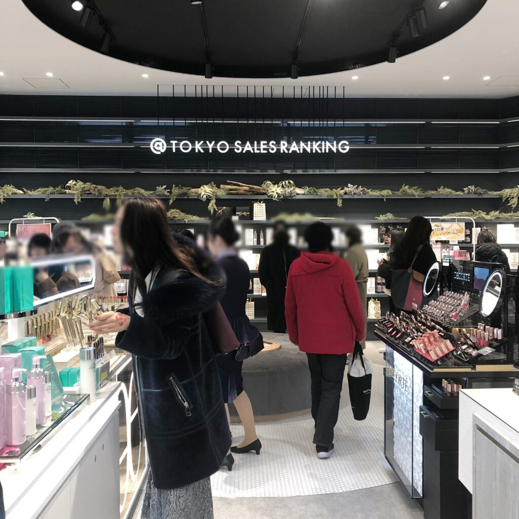 @cosme TOKYO内の店舗売筋商品コーナー