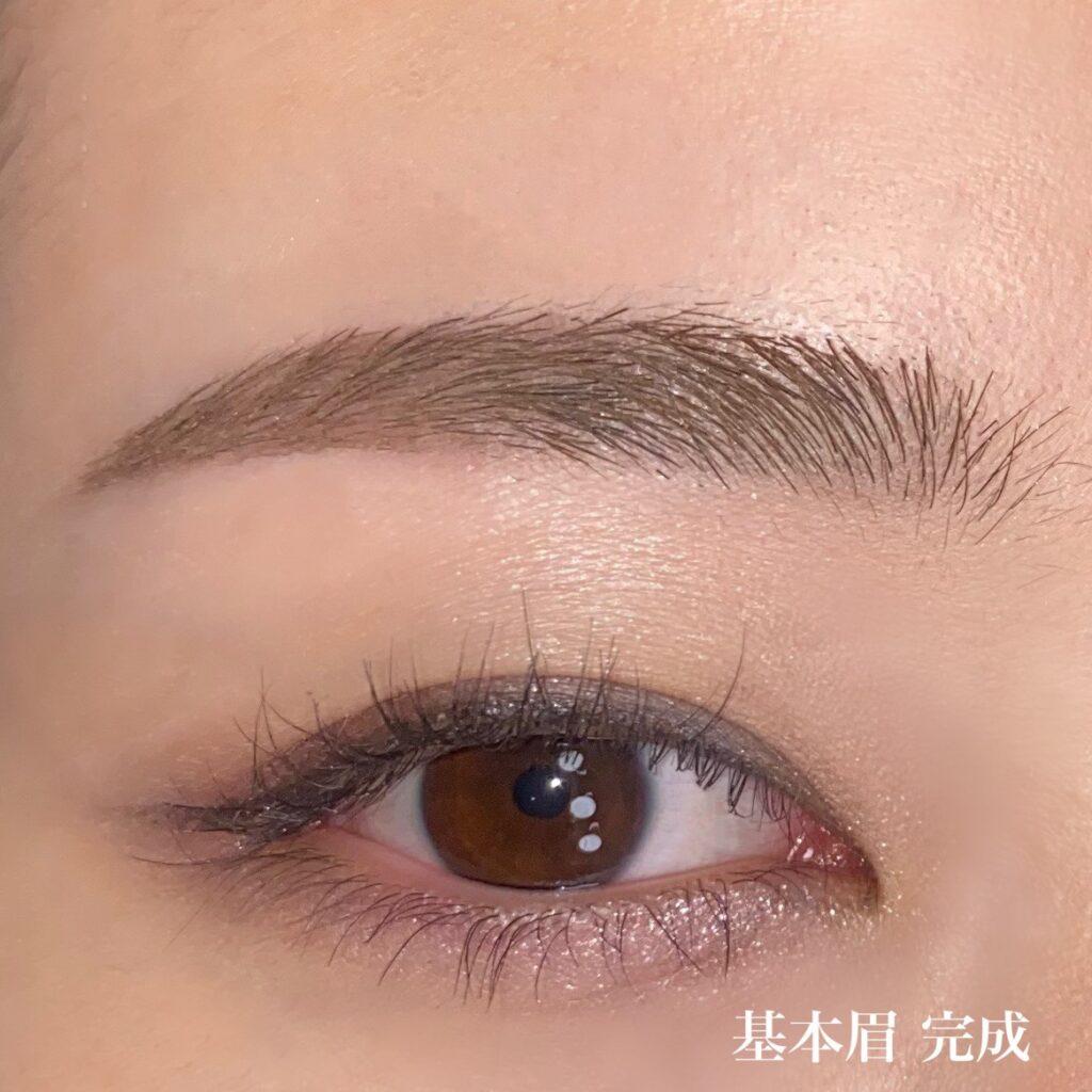 基本的な眉毛を描く工程5