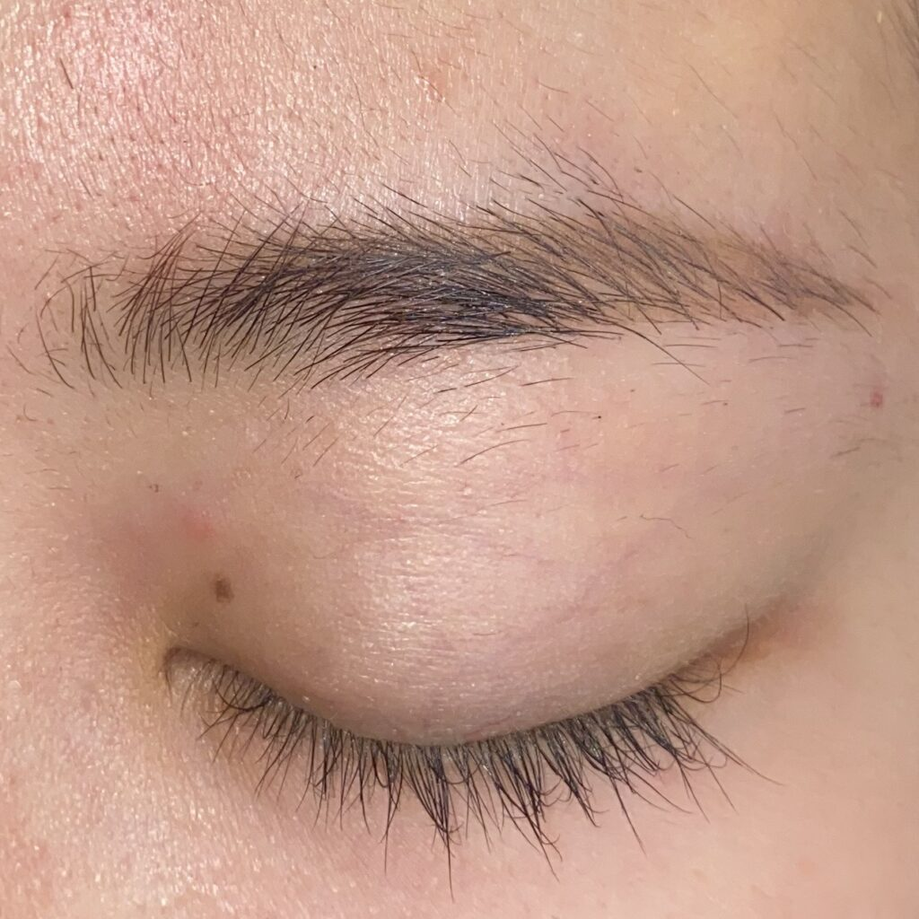 眉毛を整える工程1