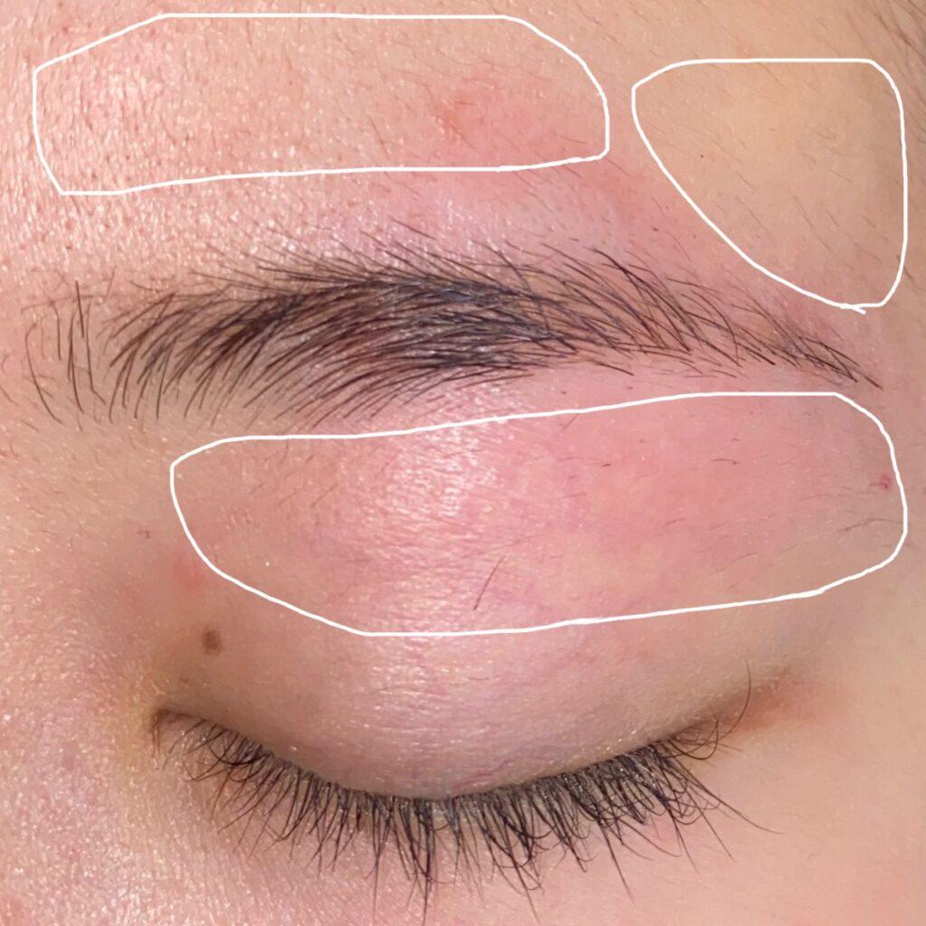 眉毛を整える工程5
