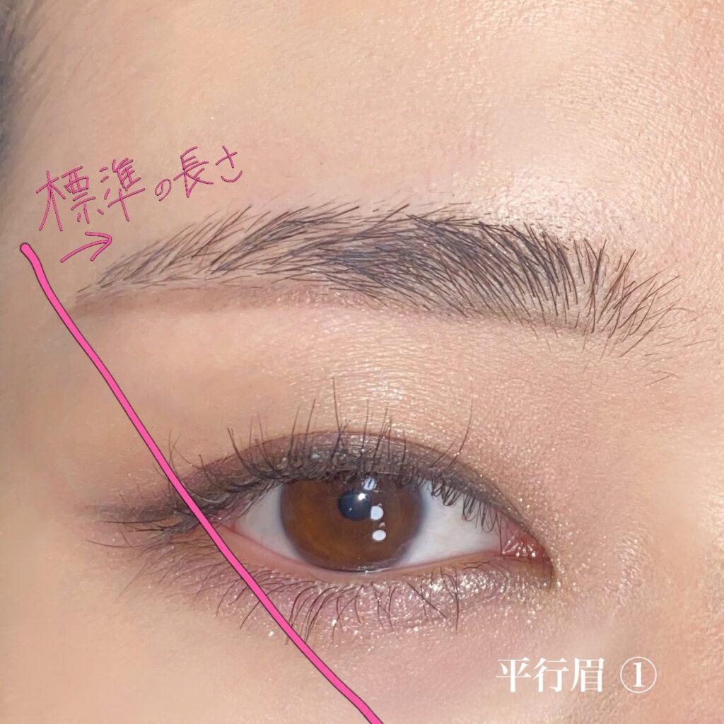 平行眉を描く工程1